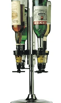 Rotary 4 Bottle Optics Stand
