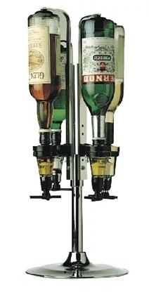 Rotary 4 Bottle Optics Stand