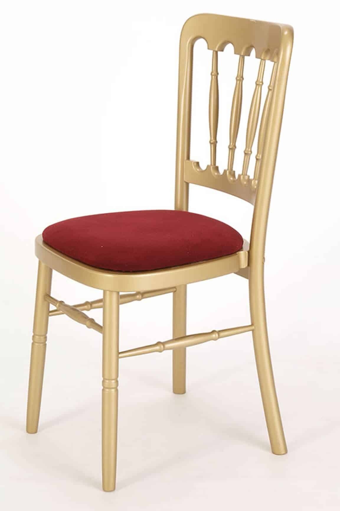 Gold and Red Cheltenham Banqueting Chair For Hire Herts Beds and Bucks