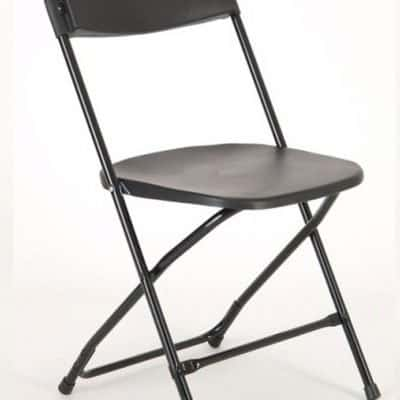 Black Fold up Chair For Hire Herts Beds and Bucks