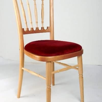 Natural and Red Cheltenham Banqueting Chair For Hire Herts Beds and Bucks