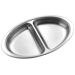 Stainless Steel Divided Vegetable Dish Hire Herts Beds & Bucks