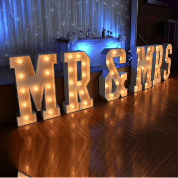 MR&MRS LED Letters