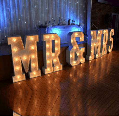 MR&MRS LED Letters