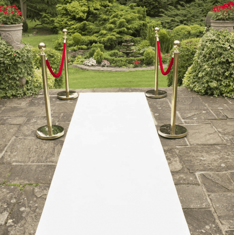 White Aisle Runner