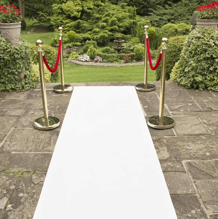 Carpet Aisle Runner White Wa Carr Amp Son