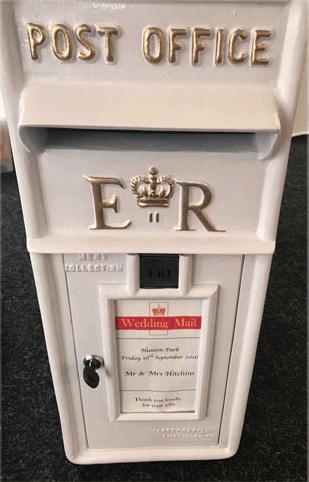 Post Box – Gold Writing
