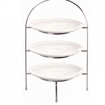 """3 Tier Afternoon Tea Stand With 10"""" Plates"""