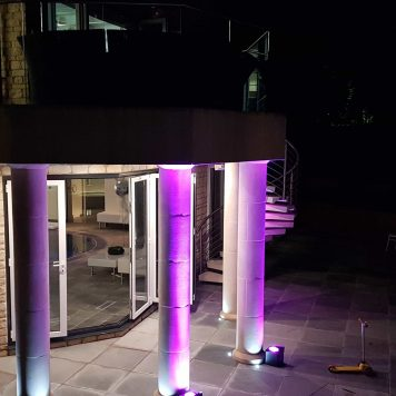 Outdoor Uplighter Hire Herts