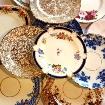Vintage tea Plate Hire