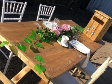 Light Rustic Trestle Table