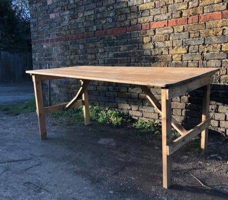 Rustic Trestle Table Hire Hertfordhire
