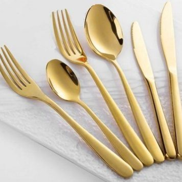 Luxury Gold Cutlery Hire