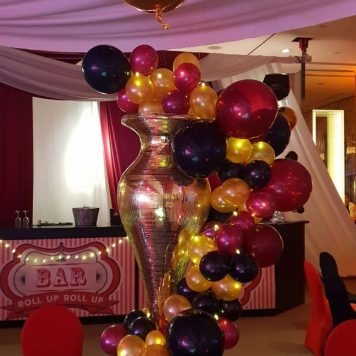 Balloon centrepiece colourful hire bespoke hertfordshire