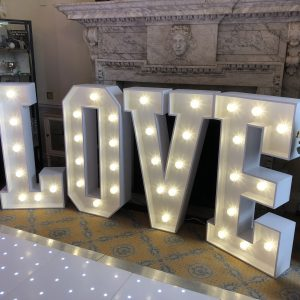 LOVE 4ft Letter Hire Hertfordshire