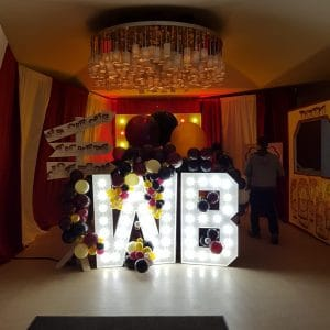 Warner Brothers Party Balloon Decor 4ft Letter Hire Hertfordshire