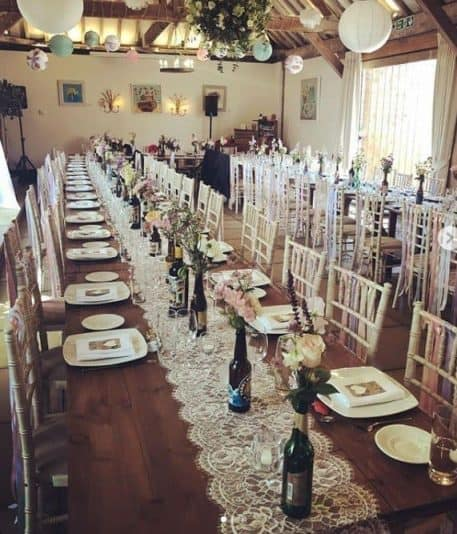 EXTRA WIDE RUSTIC TABLE HIRE Buckinghamshire