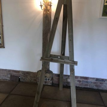 Rustic Wooden Easel pic