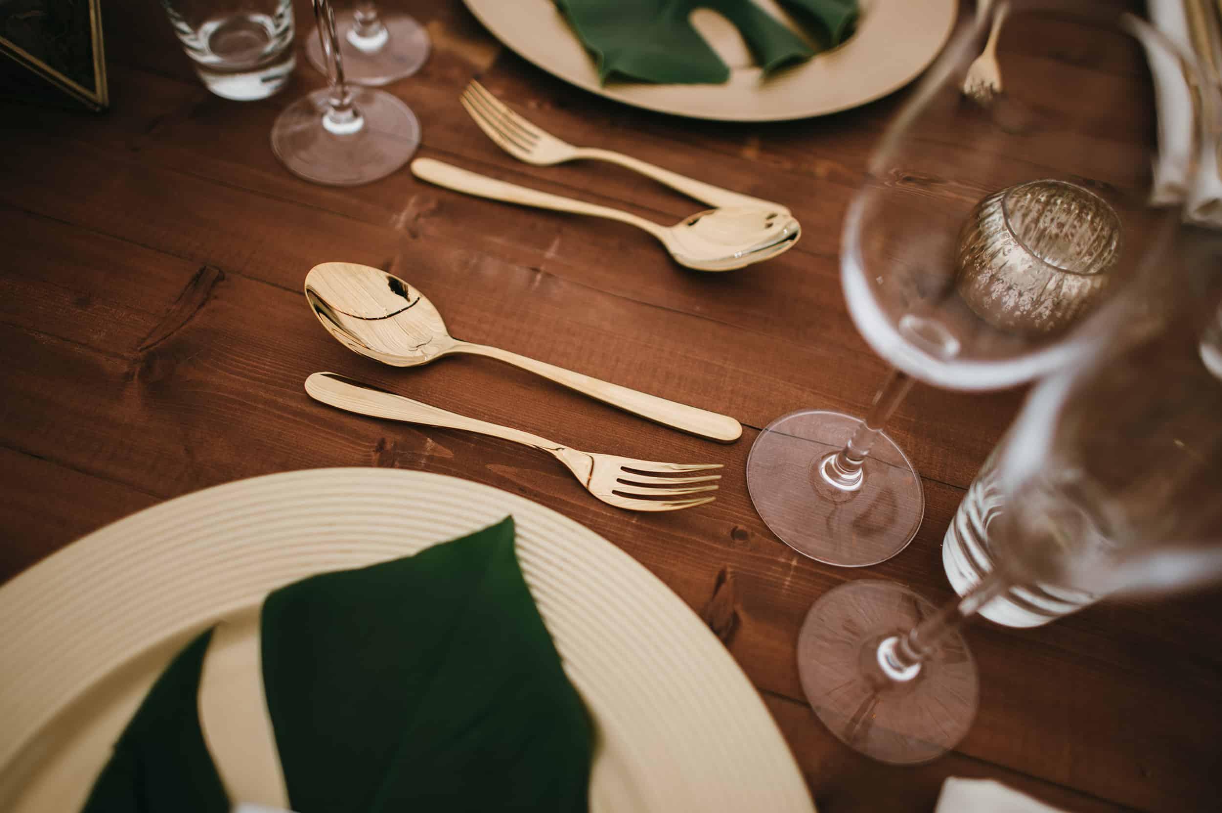 Gold Tableware Hire Hertfordshire