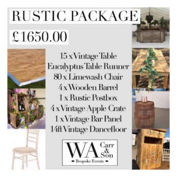 Rustic Wedding Package Image