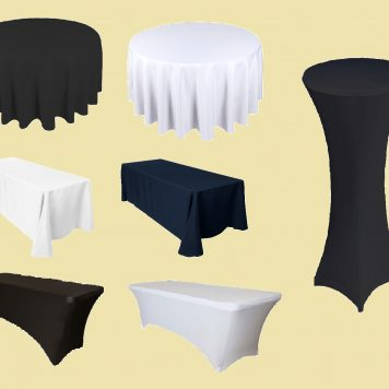Linen and Spandex Tablecloth Hire